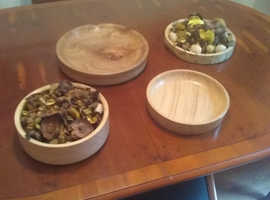 Bespoke hand crafted woodturned bowls and platters