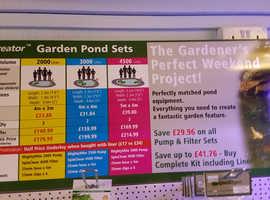 Pond Expert garden accessories now in stock