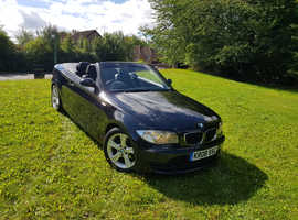 BMW 1 series, 2008 (08) Black Convertible, Manual Petrol, 105,266 miles