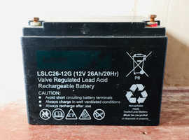 12V 26Ah lead acid rechargeable battery for sale, recently fully charged and working perfectly