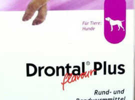 DRONTAL PLUS WORMING TABLETS FOR DOGS - PROFESSIONAL SIZE BOX 104 TABLETS