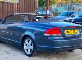 Volvo C70, 2007 (07) Blue Convertible, Automatic Diesel, 109,288 miles