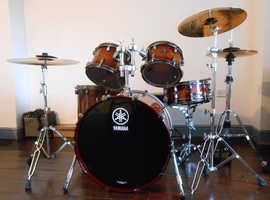 Yamaha Live Custom Oak drumkit Amber Shadow