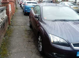 Ford Focus, 2007 (57) Purple Coupe, Manual Petrol, 91,000 miles