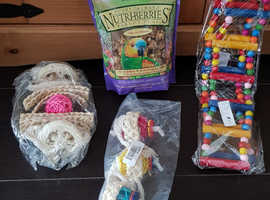**BRAND NEW PARROT/ BIRD TOYS AND FOOD**