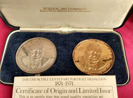 Churchill centenary 2 ounce medallions (only 750 minted)