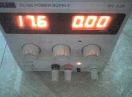 TTI / THURLBY THANDER Model EL183 POWER SUPPLY , 18v at 3.3A , WORKING - USED