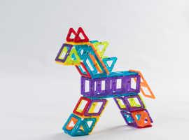 COSTWAY 106 pcs Construction Kids Magnetic DIY Set (TY578044)