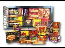 All types of fireworks