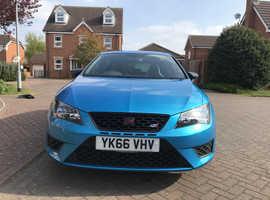 Seat Leon Cupra FR, 2016 (66) Blue Hatchback, Manual Petrol, 23,757 miles