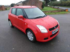 Suzuki Swift, 2008 (08) Red Hatchback, Manual Petrol, 35,000 miles