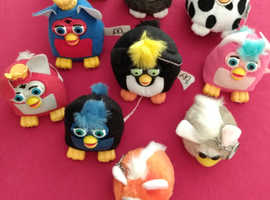 Furbies collection of ten from twenty years ago.