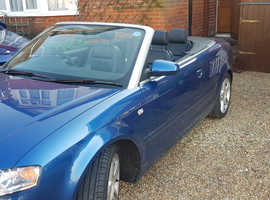 Audi A4, 2008 (57) Blue Convertible, Cvt Petrol, 93,500 miles