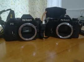 For Sale Nikon FG and EM Film Cameras