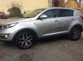 Kia Sportage, 2013 (13) Silver Estate, Manual Diesel, 114,000 miles