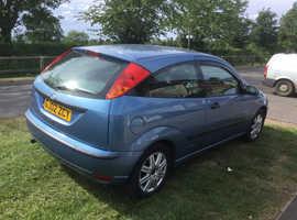 Ford Focus, 2002 (02) Blue Hatchback, Manual Petrol, 132,000 miles