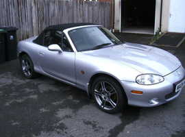 Mazda MX-5, 2004 (04) Silver Convertible, Manual Petrol, 51,879 miles