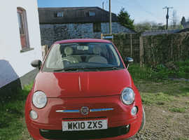 Fiat 500, 2010 (10) Red Hatchback, Manual Petrol, 95,500 miles