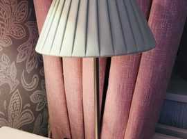 Lamp with pale green shade