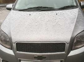 Chevrolet Aveo, 2010 Grey, Manual Petrol, only 62,421 miles, tinted windows, cheap tax, cheap insurance