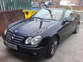 Mercedes Clk, 2007 (07) Black Convertible, Automatic Petrol, 120,000 miles