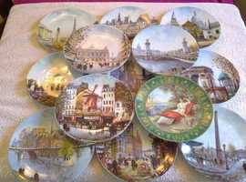 Set of Thirteen Henri d' Arceau & Fils Collector Plates-Good Condition-Proceeds To Local Charity
