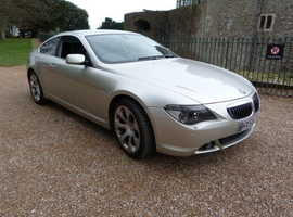 BMW 6 Series, 2005 (55) Silver Coupe, Automatic Petrol, 87,000 miles
