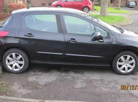 Peugeot 308, 2008 (58) Black Hatchback, sport. Manual Diesel, 1001000