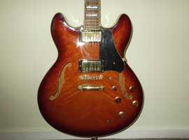 Rare Vester MOD800 Hollow Body Semi Electric Guitar