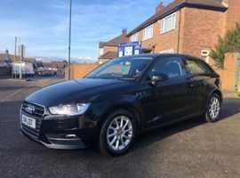 Audi A3, 2015 (15) Black Hatchback, Semi auto Diesel, 55,000 miles