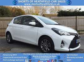 Toyota Yaris, 2015 (65) white hatchback, Manual Petrol, 61000 miles