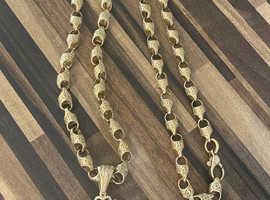 Anchor Chain & Lioness Pendant