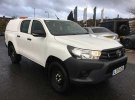Toyota Hilux, 2017 (17) White 4x4, Manual Diesel, 96,000 miles PLUS VAT
