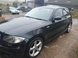 BMW 1 series, 2007 (07) Black Hatchback, Manual Petrol, 118,000 miles