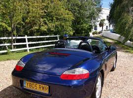 Porsche Boxster, 2001 (Y) Blue Convertible, Manual Petrol, 128,000 miles