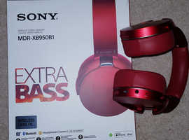 SONY OVER EARPHONE  MDR-XB950B1 Wireless ADJUSTABLE RED