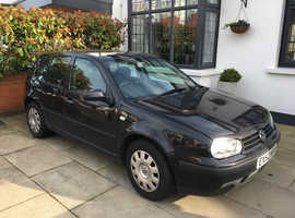 Volkswagen Golf, 2002 (52) Black Hatchback, Manual Diesel, 130,000 miles