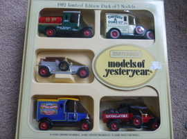 MATCHBOX 1982 LIMITED EDITION BOX SET OF 5 LLEDO MODELS