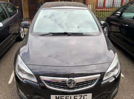 Vauxhall Astra, 2011 (61) Black Hatchback, Manual Petrol, 96,950 miles