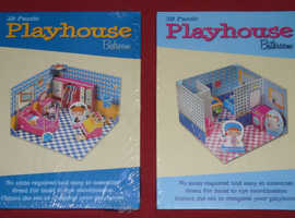 Two '3D Puzzle Playhouse' Kits (new)
