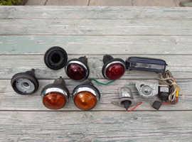 Various classic car lights.