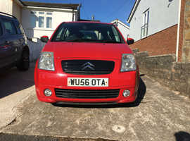 Citroen C2, 2006 (56) Red Hatchback, Manual Petrol, 80,000 miles