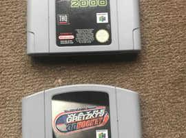 Nintendo64 games (Wrestlemania + Wayne Gretzky) - £17