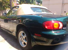 Mazda MX-5, 1998 (56) green convertible, Automatic Petrol, 72000 miles
