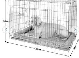 1x medium dog crate or 1x extra large dog crate