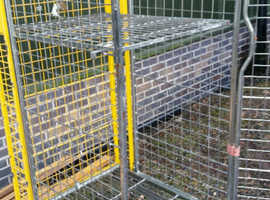 ROLL CAGE 4 SIDED FULL SECURITY METAL LORRY DELIVERY CAGE/PALLET ON CASTORS