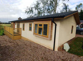 Brand New Elveden Cottage from Omar, 45x20 complete with decking and stunning views