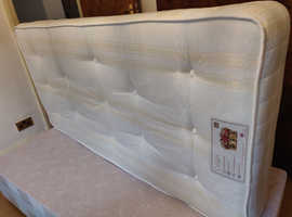 2 single divan bed frames with drawers plus 2 single crown mattresses