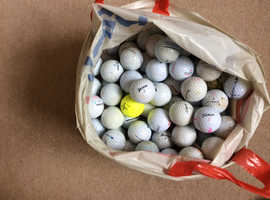 100 golf balls assorted used balls for practice or some friendly golf