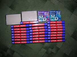 23 TDK FE90 CASSETTES NEW UN-OPENED